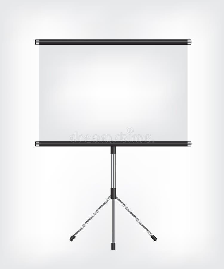 Blank Projection screen vector illustration