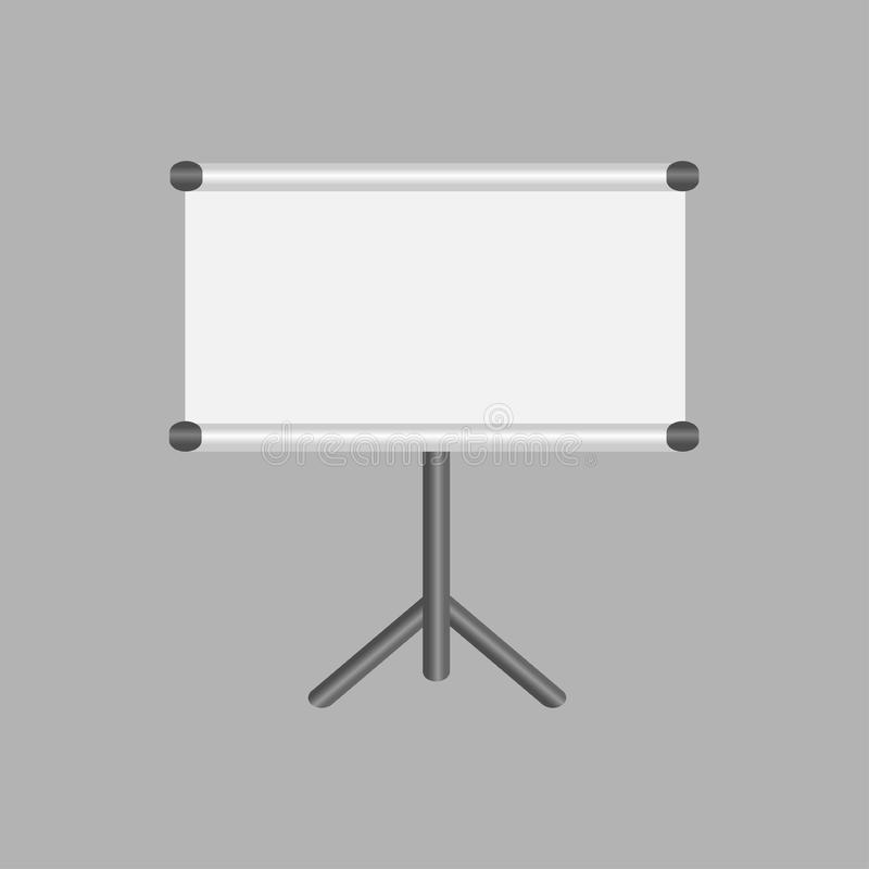 Blank projection screen with copy-space stock illustration