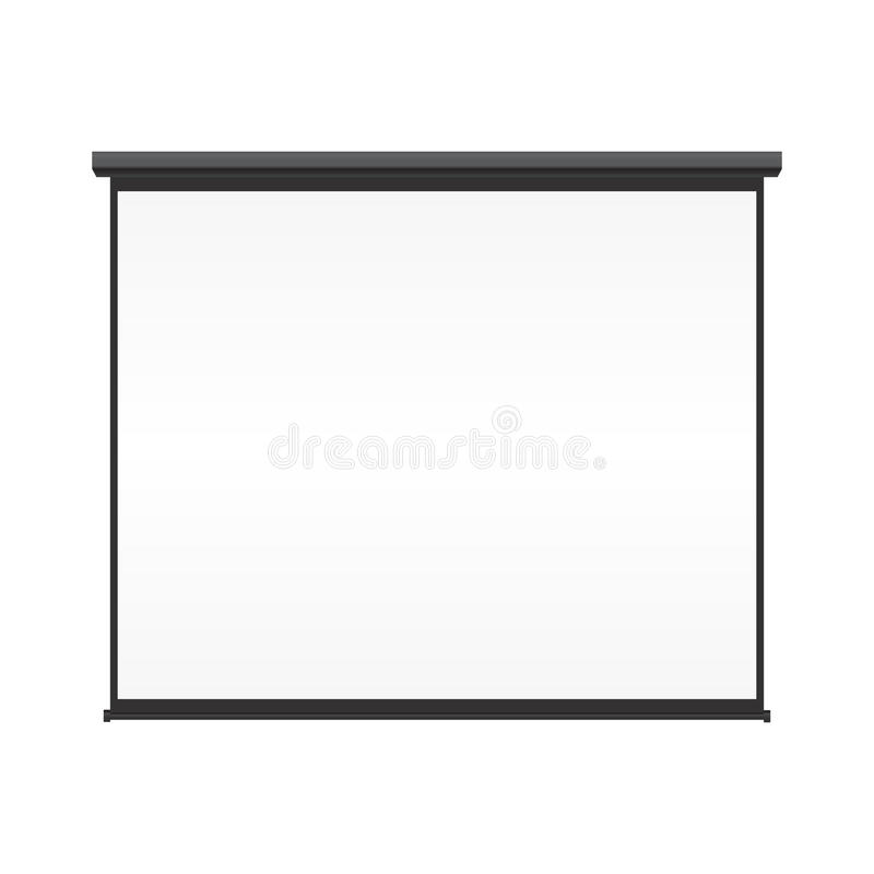 Blank projection screen royalty free illustration