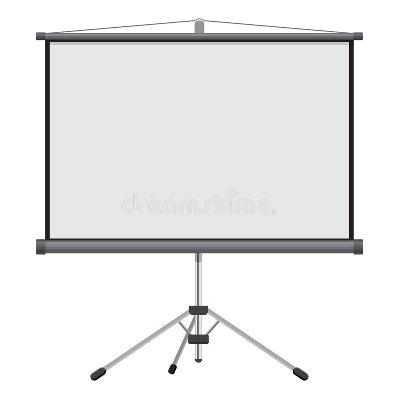 Blank Projection screen vector illustration isolated on white background royalty free illustration