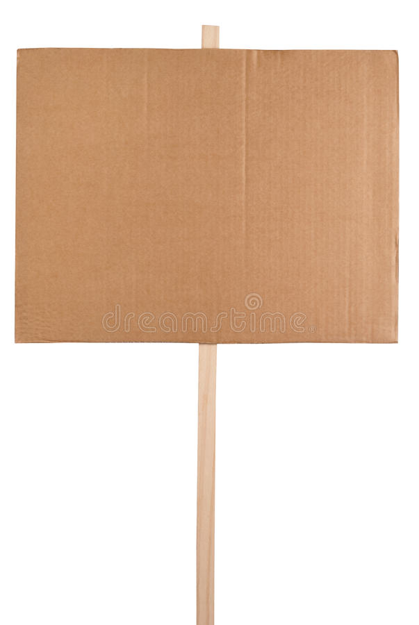 Blank protest sign royalty free stock images