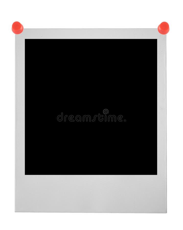 blank przypięty polaroid zdjęcia stock