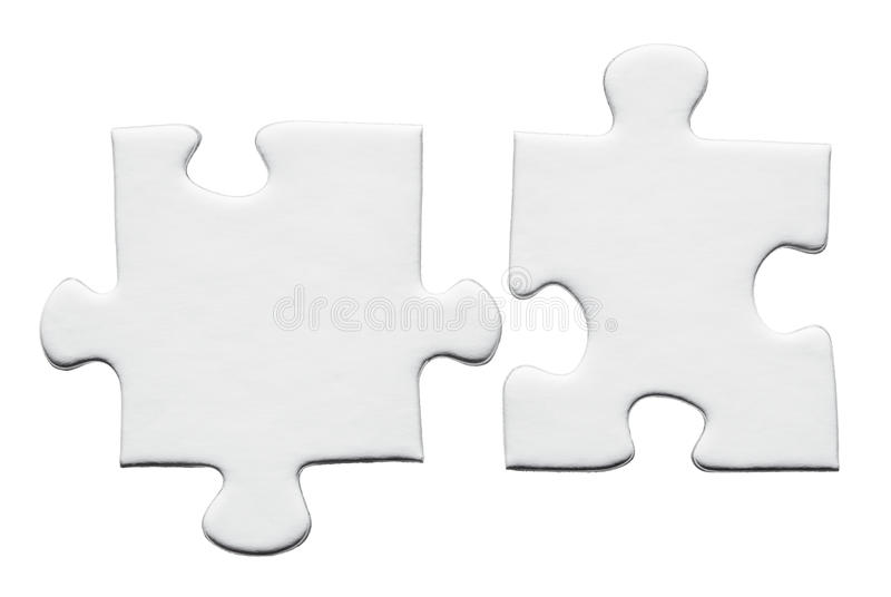 Blank puzzle stock photos