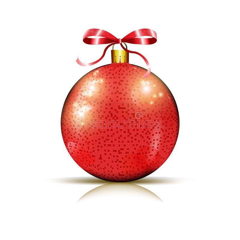 Blank röd bauble för jul royaltyfri fotografi