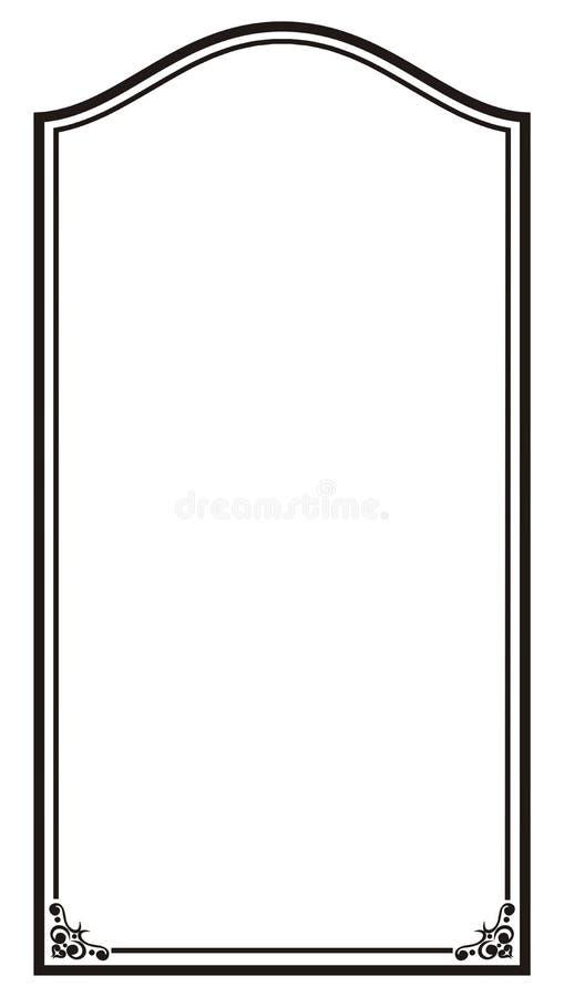blank ram vektor illustrationer