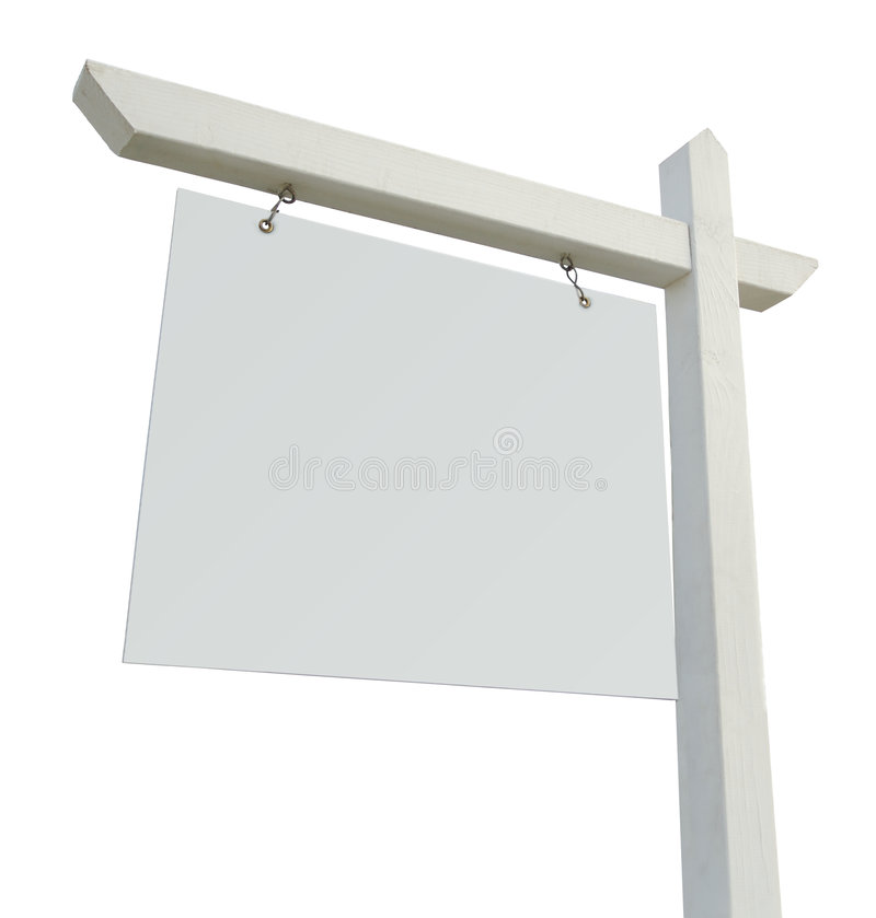 Blank Real Estate Sign royalty free stock photo