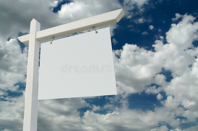 Blank Real Estate Sign royalty free stock image