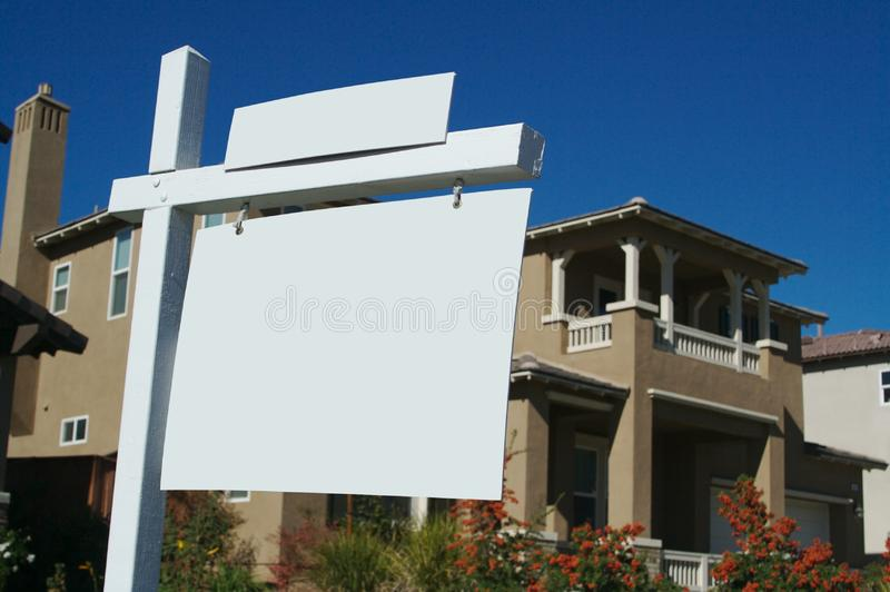 Download Blank Real Estate Signs stock image. Image of apartment - 3462923
