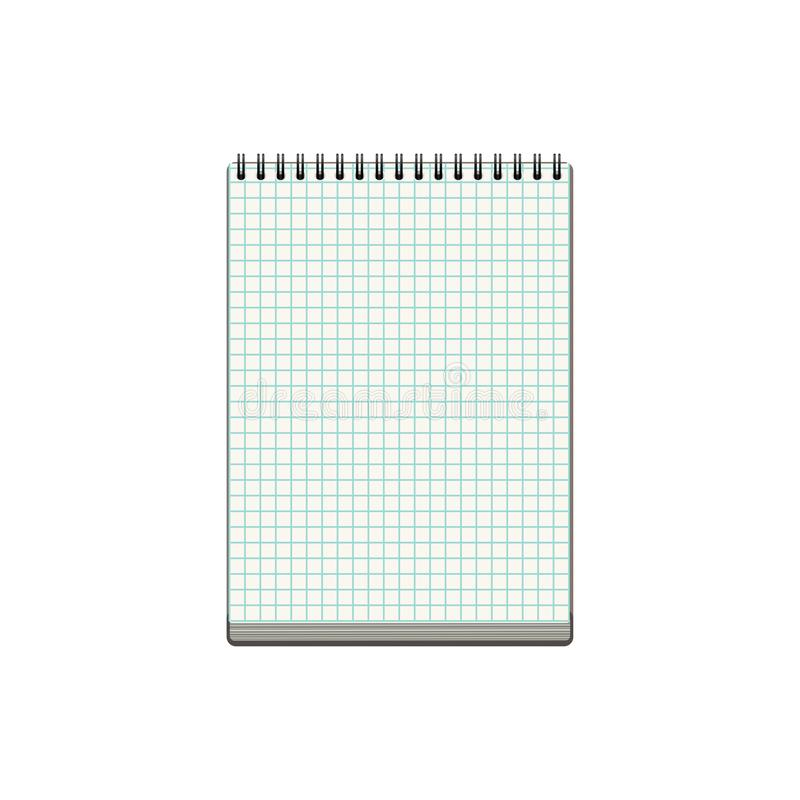 Blank realistic notebook isolated on white background royalty free stock images