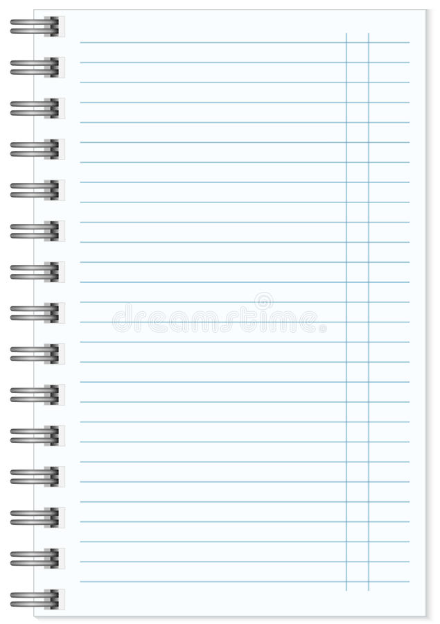 Blank realistic spiral notepad notebook isolated. On white vector stock illustration