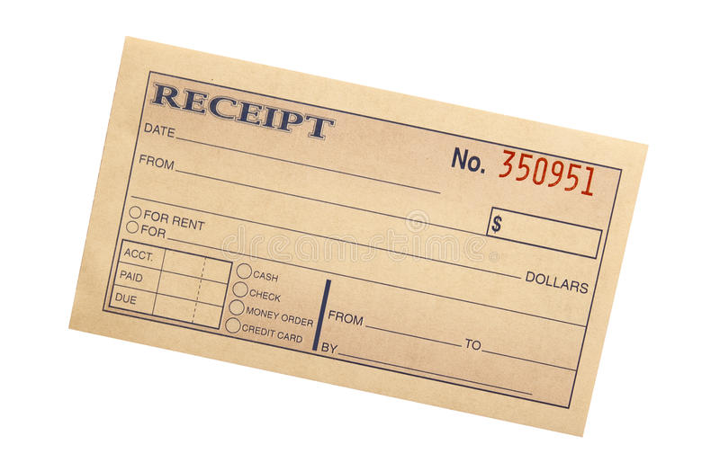 Blank receipt stock image. Image of isolated, sales, form - 23955765