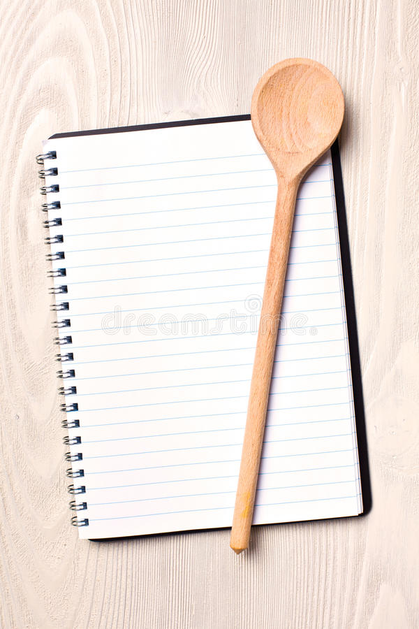 Download Blank recipe book stock photo. Image of culinary, board - 24114884
