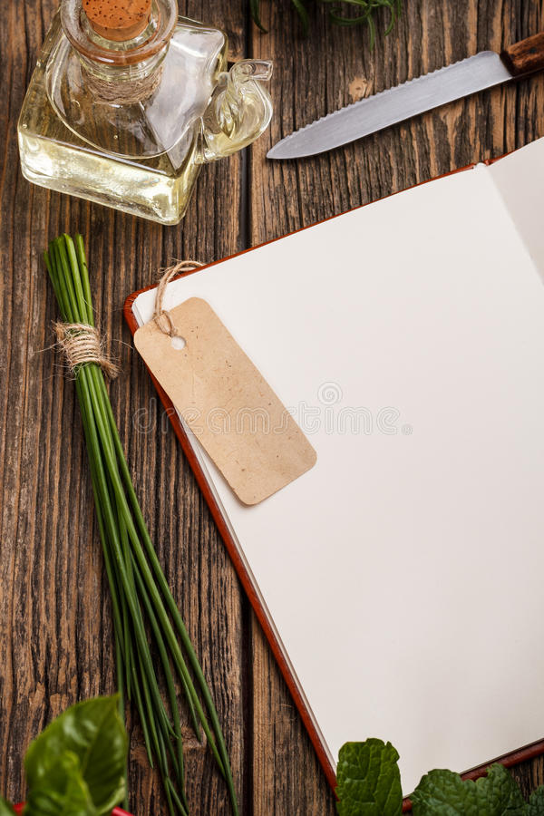 Blank recipe book royalty free stock photo