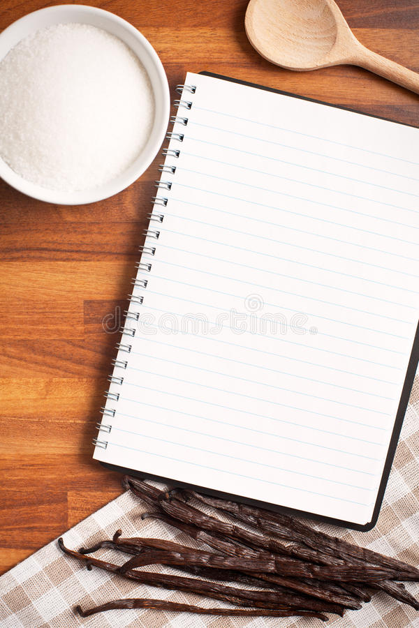 Download Blank Recipe Book And Vanilla Pods Stock Photos - Image: 28901883