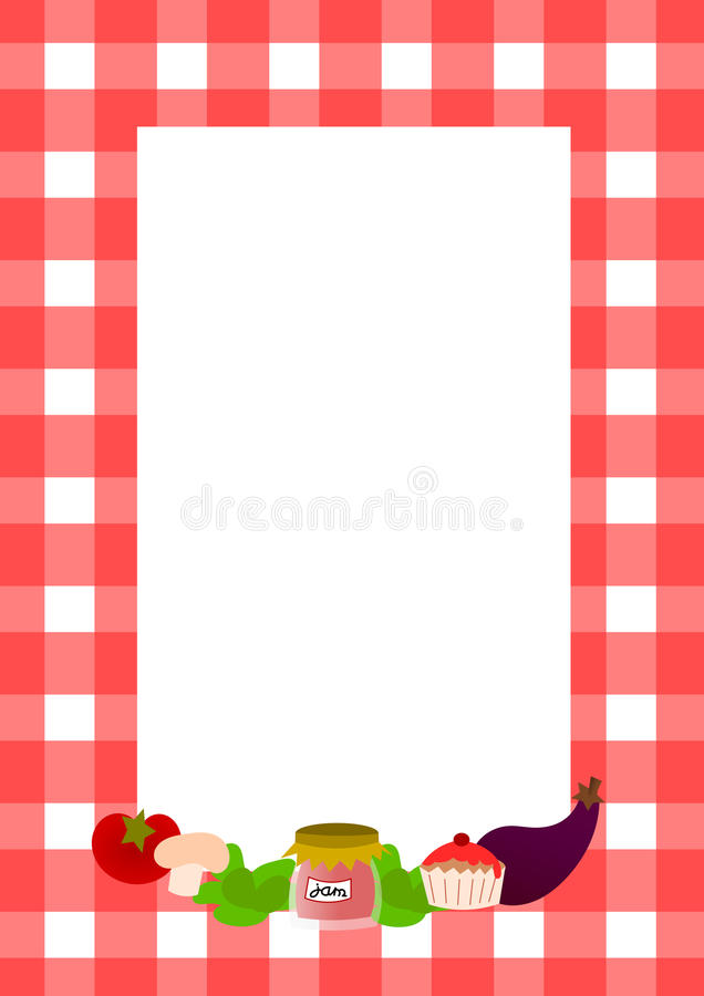 full page recipe template download