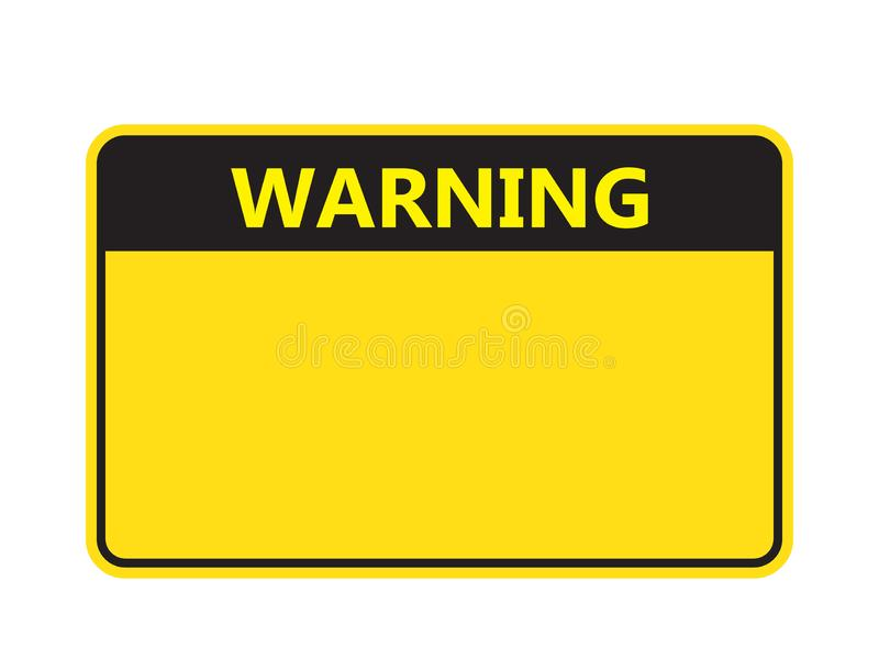 Set: Blank Rectangle Warning Sign, Attention Sign, Caution Sign