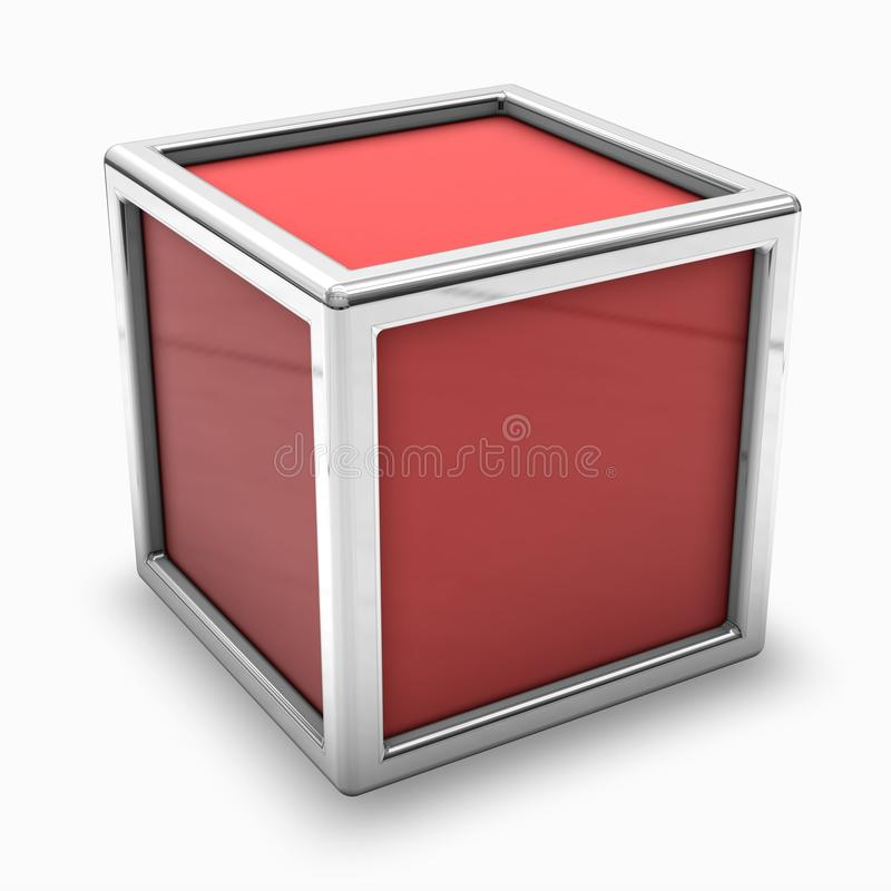 Blank Red  Box Royalty Free Stock Image