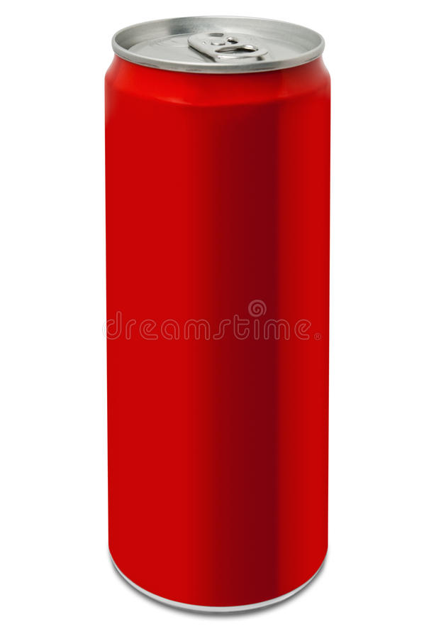 Blank red drinking can royalty free stock images