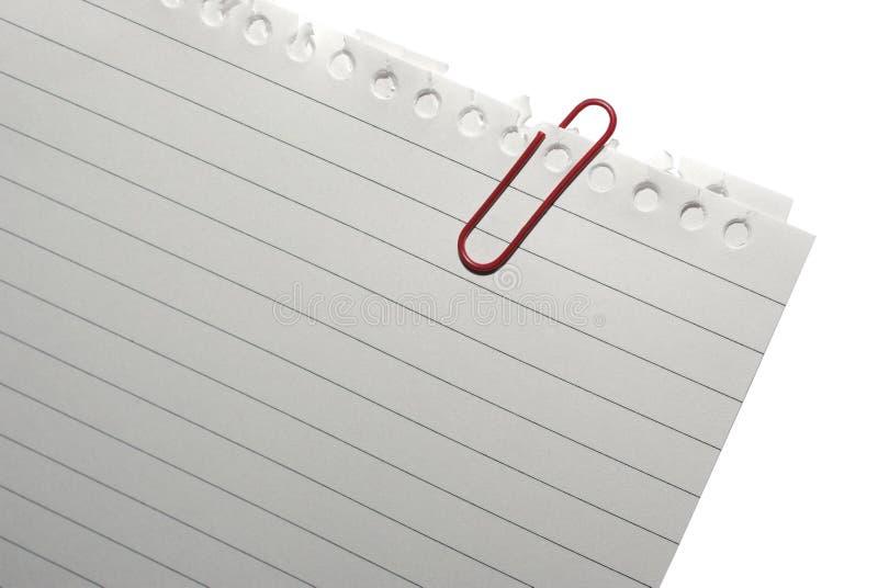 blank red för papper för gemhörnanmärkning arkivfoto