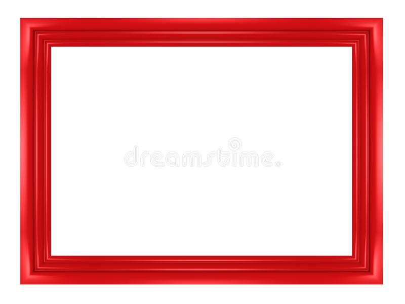 Download Blank Red Frame For Pictures And Photos Stock Illustration - Image: 21908138
