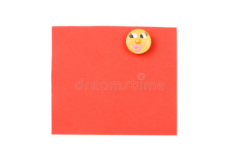 Blank red note with magnet