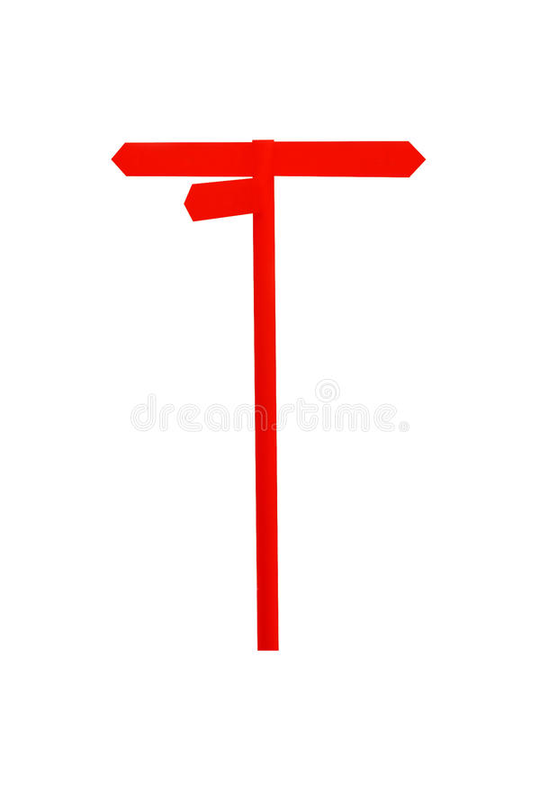 Blank red road sign isolated on white background stock images