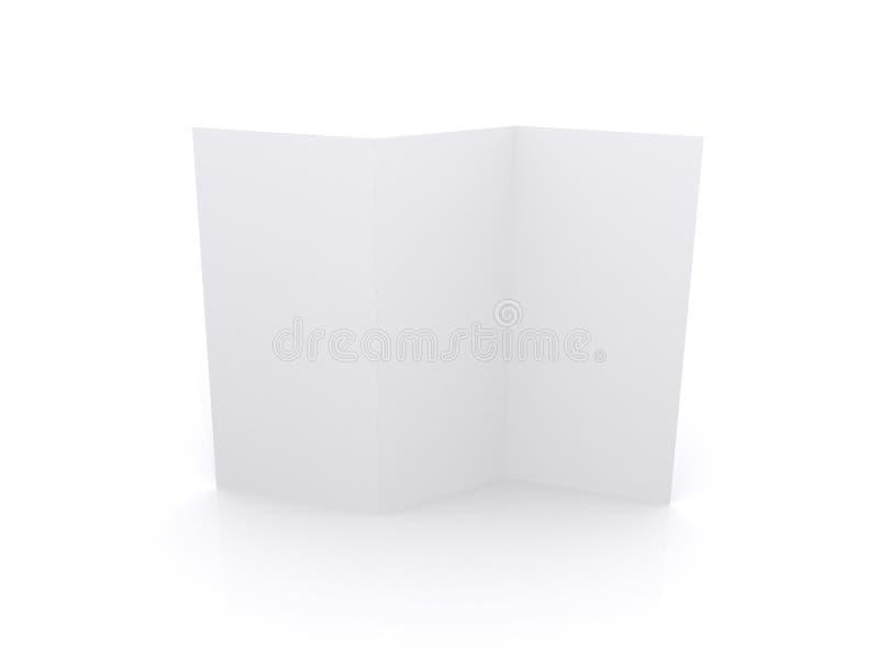 blank reklamblad royaltyfri foto