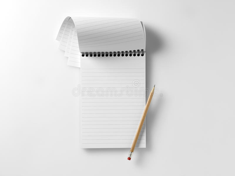 Blank Reporters Notebook With Pencil Royalty Free Stock Photos