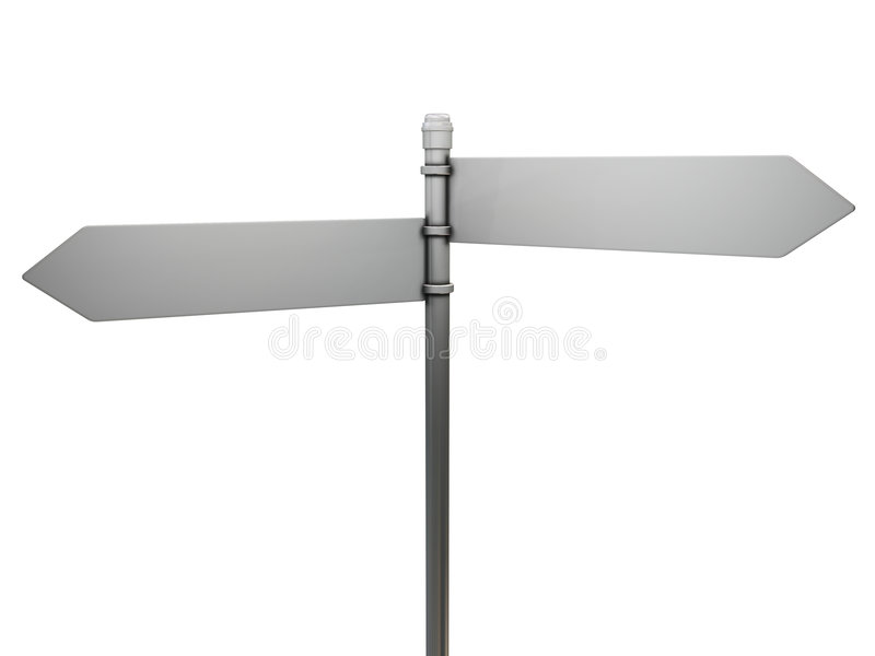 Blank road sign. 3D render of a blank road sign vector illustration