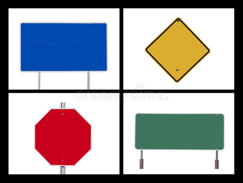 Blank Road Sign Collage royalty free stock image