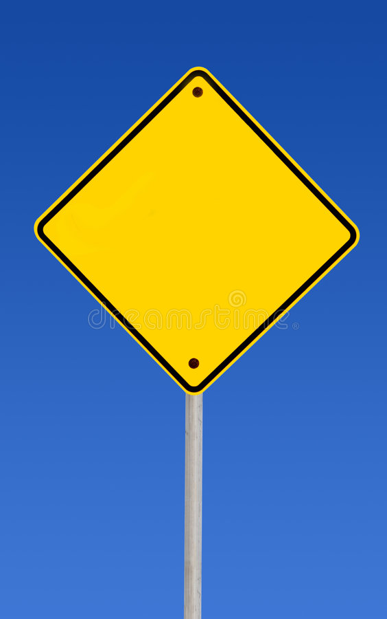 Blank Road Sign (with Path) Stock Images