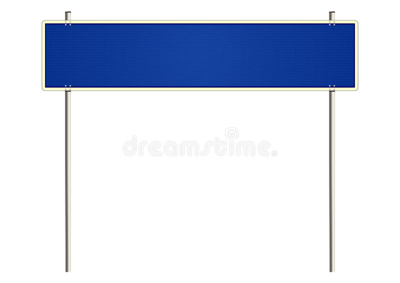 Blank road sign. Blank traffic sign on a white background. Raster. In addition, the CDR file royalty free illustration