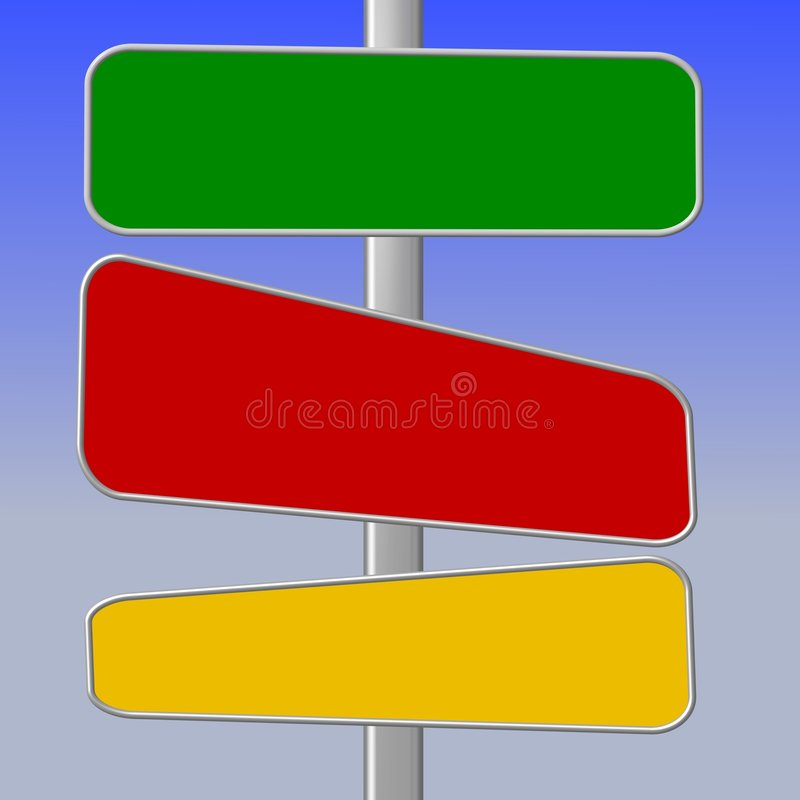 Blank road signs royalty free illustration
