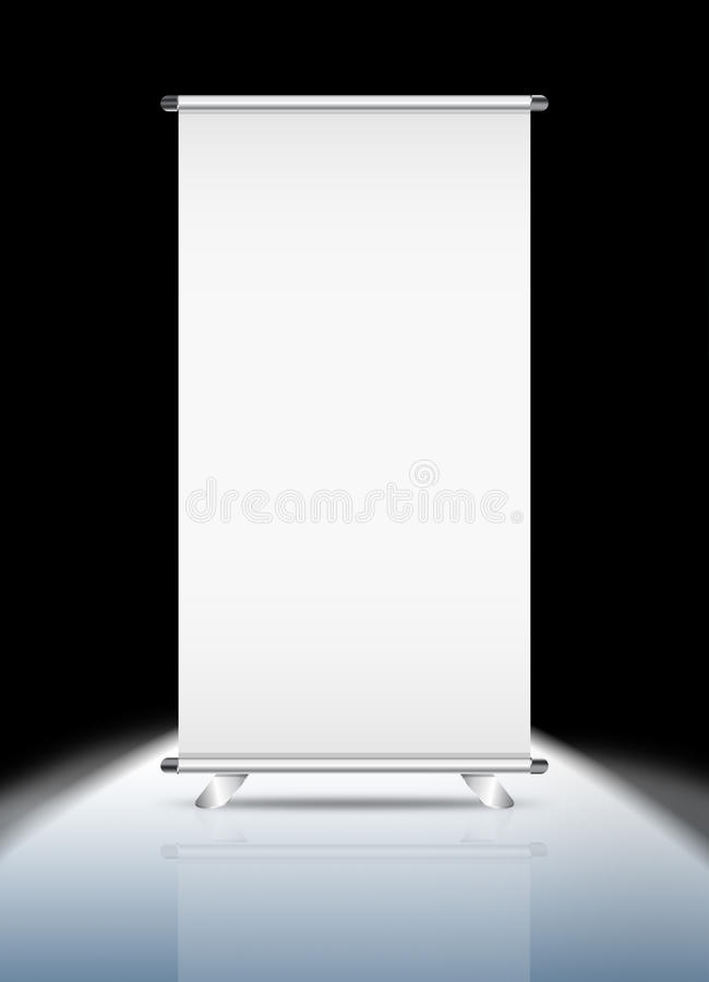 Download Blank roll-up stock illustration. Image of info, exhibition - 20490861
