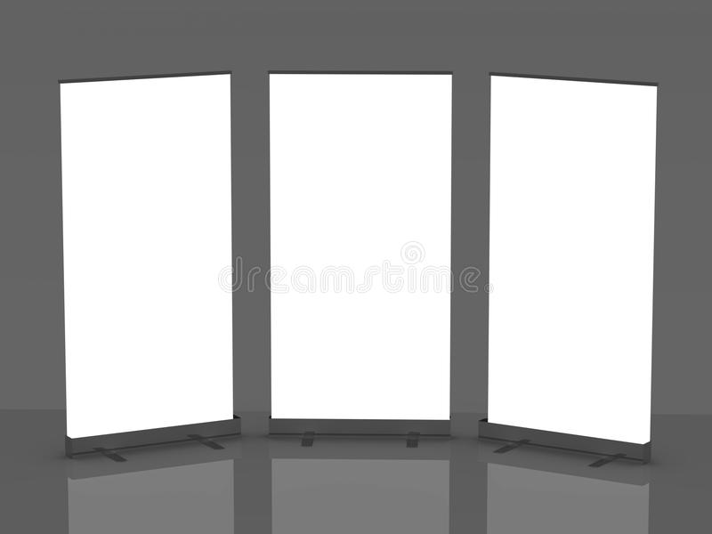 Download Blank Roll Up Banner Display Stock Illustration - Image: 18944347