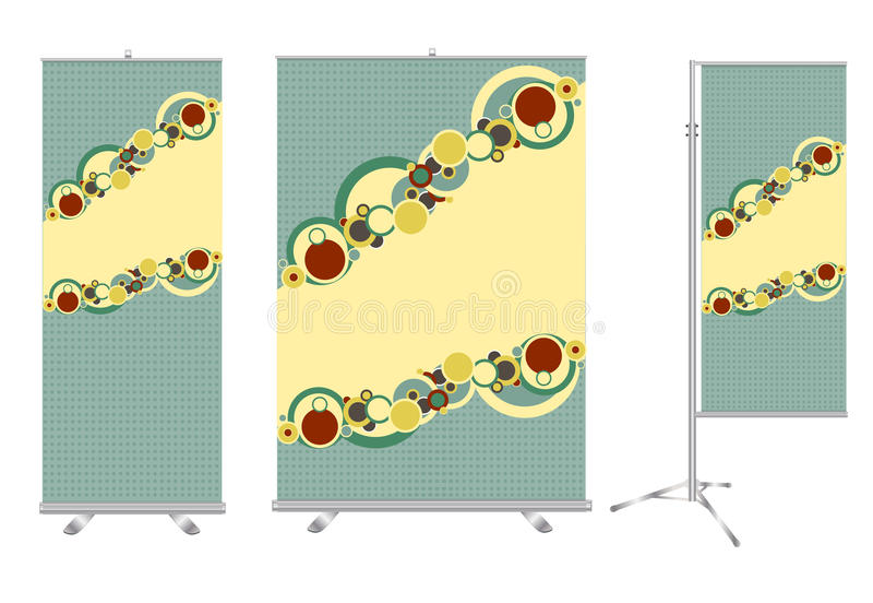 Download Blank Roll Up Banner Display Stock Photo - Image: 25896840