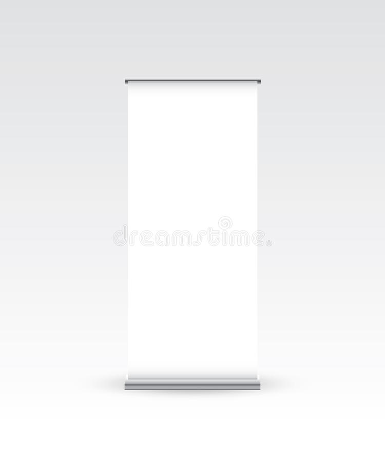 Download Blank Roll Up Banner On White Stock Vector - Image: 25119233
