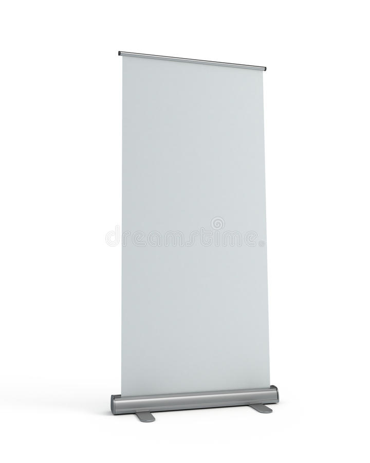 Blank roll-up display banner