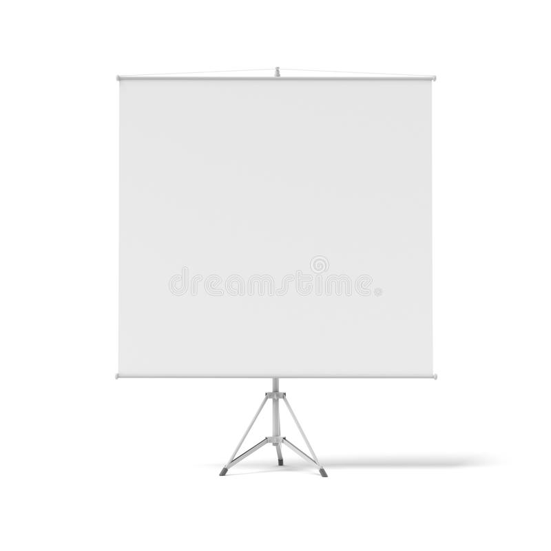 Blank roll-up poster on a tripod royalty free illustration