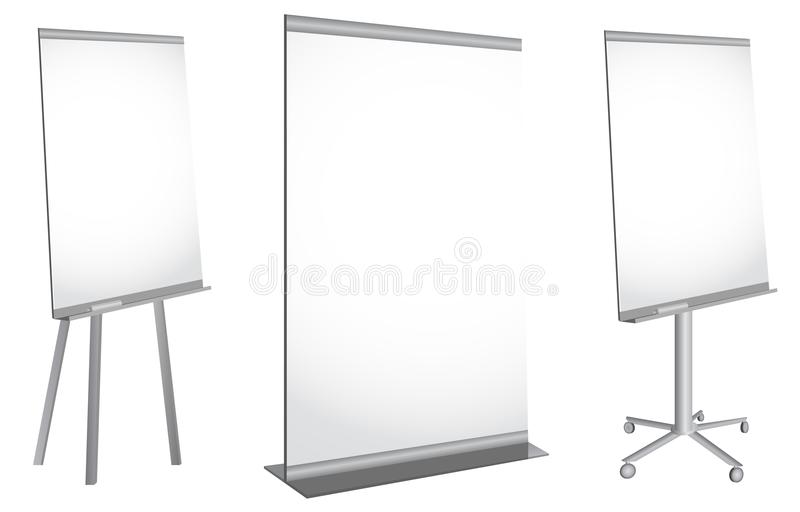 Blank roll up poster stock image