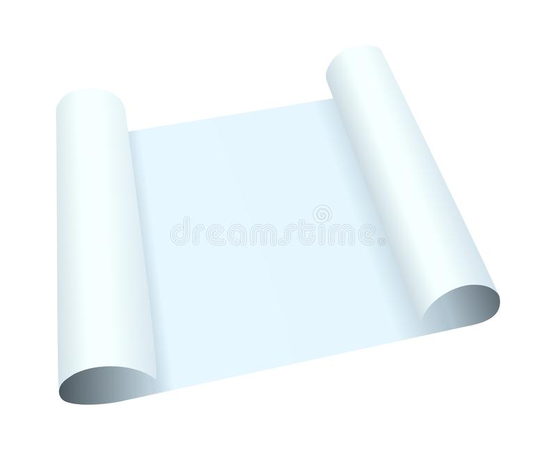 Blank Rolled Paper royalty free illustration