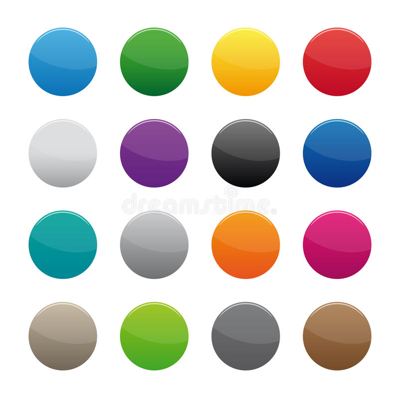 Blank round buttons stock illustration