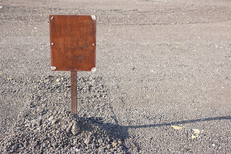 Blank Rusty Sign royalty free stock image
