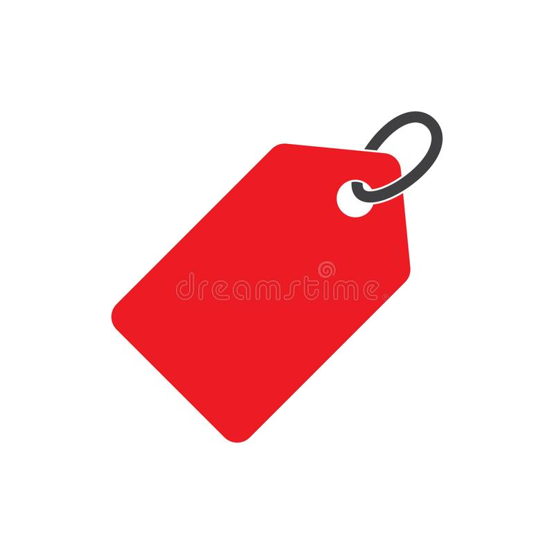 Blank sale price tag icon royalty free illustration