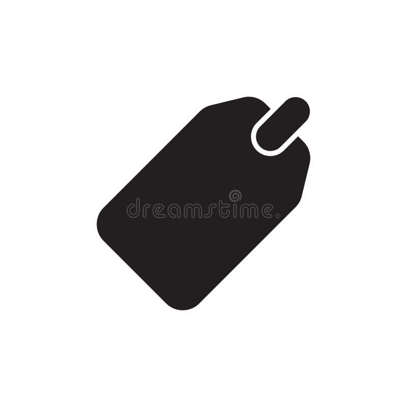 Blank sale price tag icon stock illustration