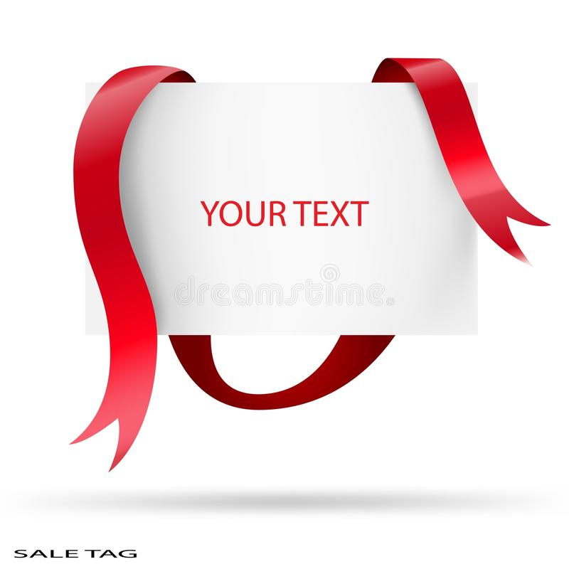 Download Blank Sale Tag. Red Ribbons. Vector Illustration. Stock Vector - Image: 15286562