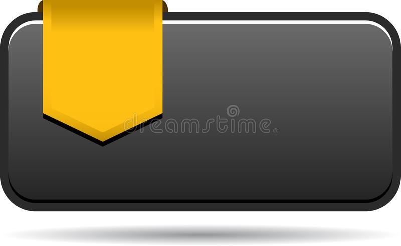 Blank sales tag with ribbon vector illustration