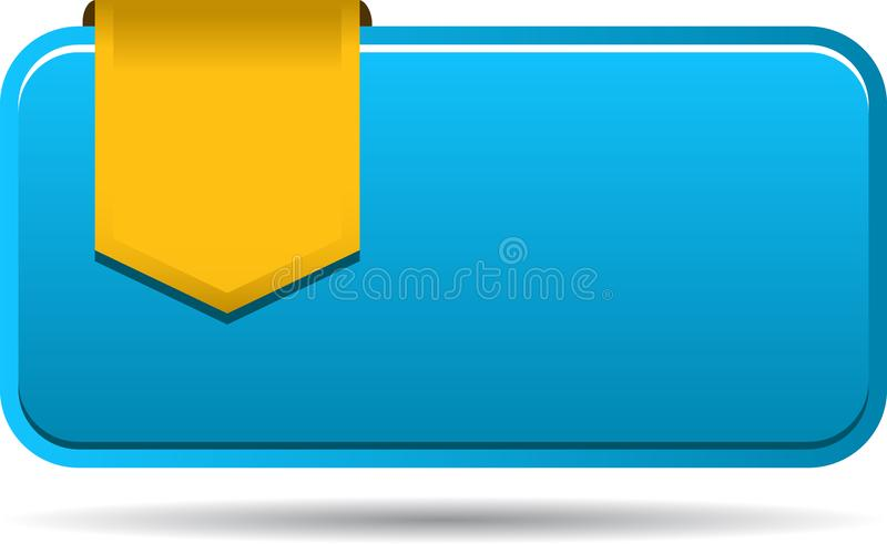 Blank sales tag with ribbon stock illustration