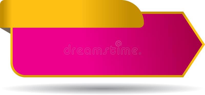 Blank sales tag with ribbon royalty free illustration