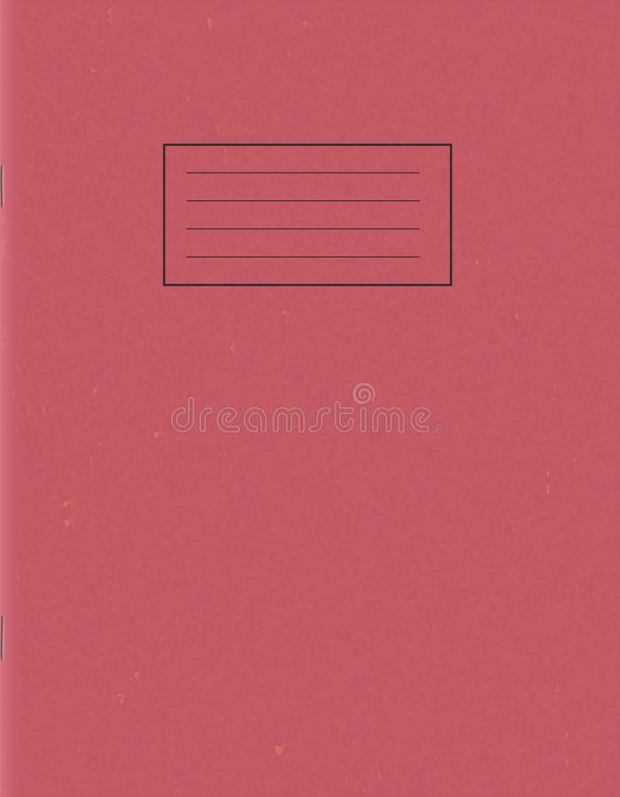 Blank school notepad template. Empty exercise book cover. royalty free illustration